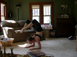 yoga scorpion pose