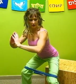 resistance bands exercises for glutes Kristi Joy Wilkins